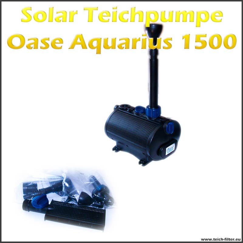 12v solar teichpumpe oase aquarius 1500 f r springbrunnen. Black Bedroom Furniture Sets. Home Design Ideas