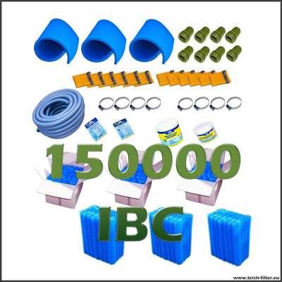 Set mit Filtermaterial für IBC Teichfilter bis 150000 Liter Wasser