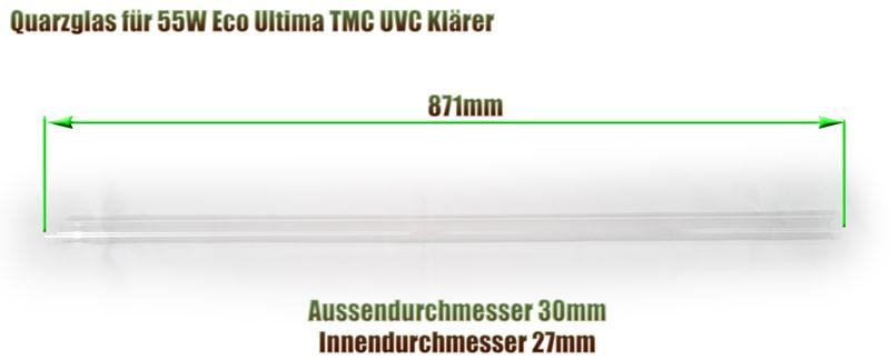 quarzglas-tmc-ultima-eco-55w-tl-uvc-klaerer-ersatz-abmessung-871mm-laenge-aquaforte-xclear-glasroehre