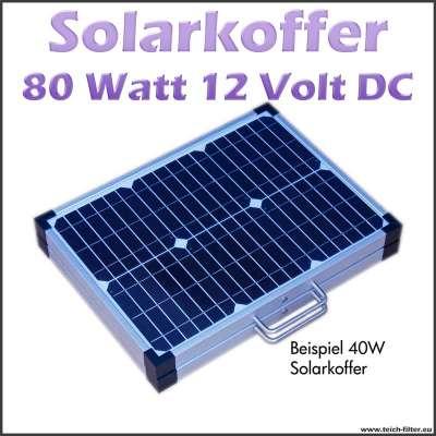 80 Watt 12 Volt Solarkoffer als faltbares Solarmodul für Camping und Wohnmobil
