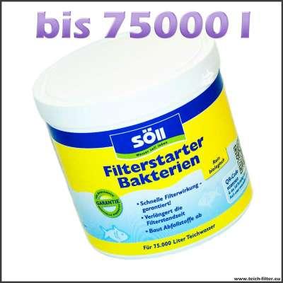 Söll Filterstarterbakterien 500g für 75000 l Wasser im Koiteich