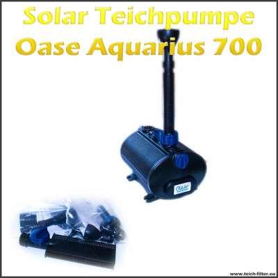12V Solar Teichpumpe Oase Aquarius 700 mit Filter für Springbrunnen