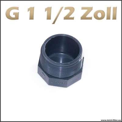 Günstiger G 1 1/2 Zoll Verschlussstopfen aus Kunststoff
