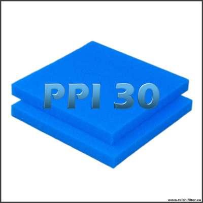 2 Filtermatten PPI 30 mit 50 x 50 x 5 cm für Teichfilter als Zuschnitt