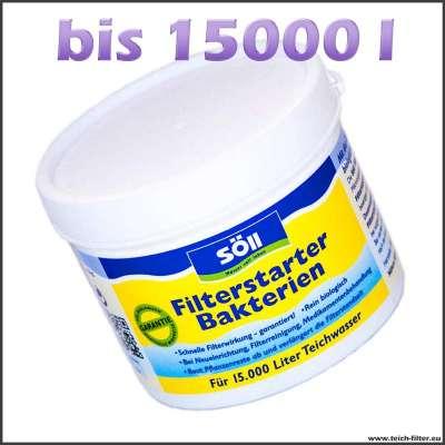 100 g Filterbakterien als Starter für Gartenteiche bis 15000 l Wasser