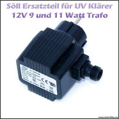 15233 15256 Ersatz Trafo 9 und 11 W 12V für Söll UV Klärer