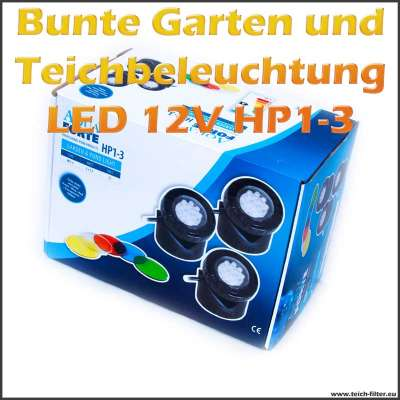 Farbige Teichbeleuchtung HP1-3 LED 12V