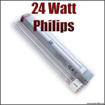 24 Watt UVC Ersatzlampe Philips (Brenner, Birne) für UVC Klärer am Teich gegen Algen
