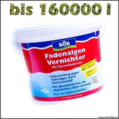 5 kg Fadenalgenvernichter für bis zu 160000 Liter Teichwasser von Söll
