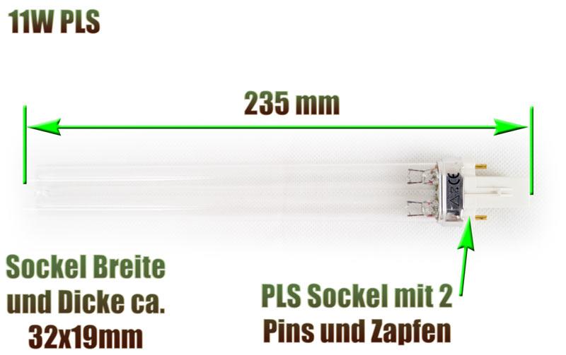 uvc-ersatzlampe-pls-eco-philips-sockel-235-mm-11-watt-klaerer-osaga-xclear-aquaforte-oase-jbl