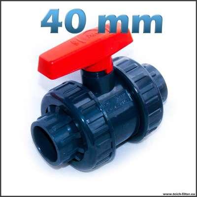 40 mm Kugelhahn aus Kunststoff für Wasser