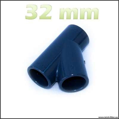 32 mm Y-Verteiler aus PVC Kunststoff für Wasser