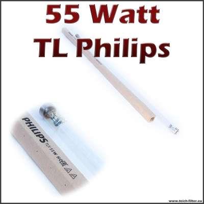 55 Watt UV Röhre von Philips mit beidseitiger TL Fassung