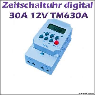 12V Timer Zeitschaltuhr 30A 630A digital programmierbar mit Display