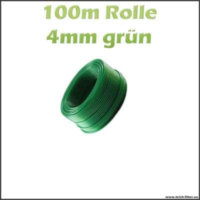100 m Rolle grüner Luftschlauch mit 4 mm Innendurchmesser