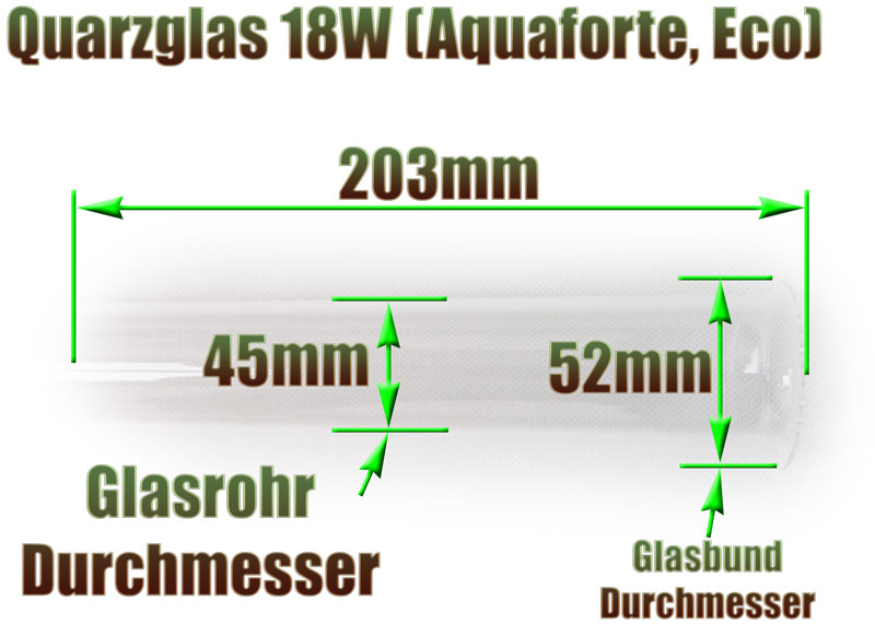 quarzglas-eco-aquaforte-18w-uvc-klaerer-ersatz-abmessung-203mm-laenge-glasrohr