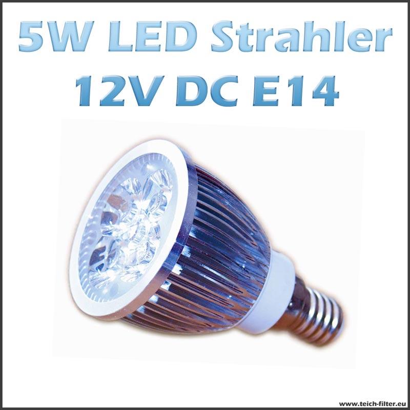 led strahler spot 5w 12v e14 warmweiss f r solaranlage. Black Bedroom Furniture Sets. Home Design Ideas