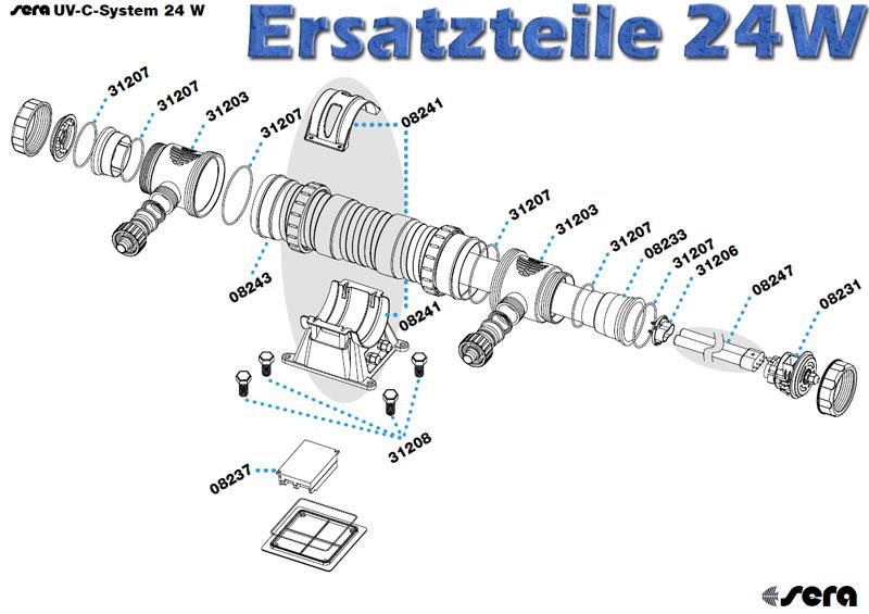 sera-pond-24w-uvc-system-ersatzteile-zeichnung