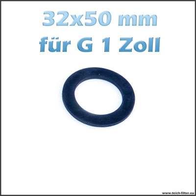 32 x 50 mm Flachdichtung aus EPDM für G 1 Zoll Anschlüsse