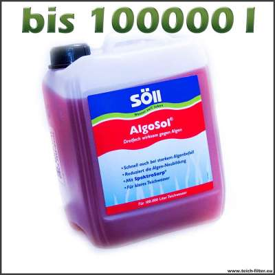 5 l Söll Algosol gegen Fadenalgen bis 100000 l Wasser