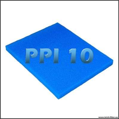 Filtermatte 10 PPI als Zuschnitt mit 75 x 60 x 5 cm für Teichfilter aus Regentonnen