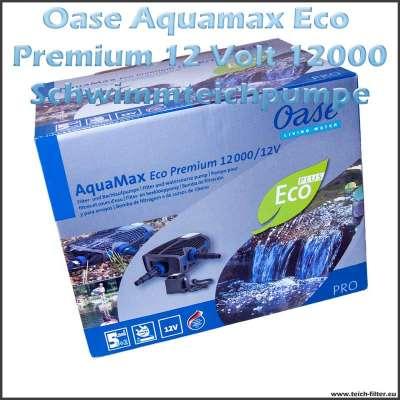 12V Teichpumpe Oase Aquamax 12000 Eco Premium für Schwimmteich