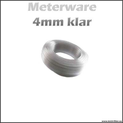 4mm Aquaristikschlauch klar transparent