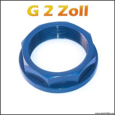 G 2 Zoll Mutter mit Achtkant von VDL aus PVC Kunststoff für Teich
