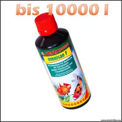 500 ml Sera Omnisan F gegen Verpilzungen bei Fischen bis 10000 l Teichwasser