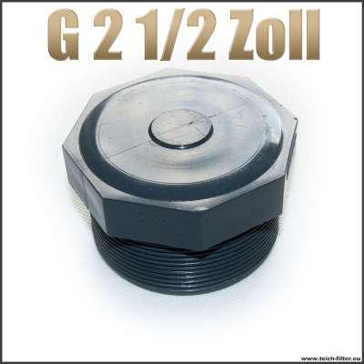 Verschlussstopfen Gewindestopfen G 2 1/2 Zoll aus Kunststoff Plastik