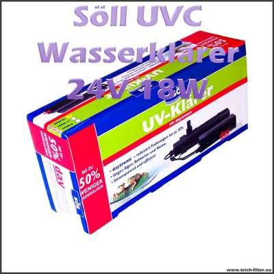 18 Watt 24V UVC Wasserklärer Söll gegen grünes Wasser
