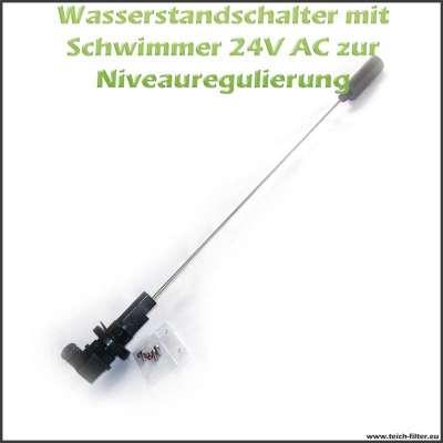 Wasserstandsschalter mit Schwimmer 12 und 24 Volt AC für Teich und Aquarium