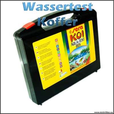 Sera Pond Koi Aqua Test Box als Set im Koffer für Teiche