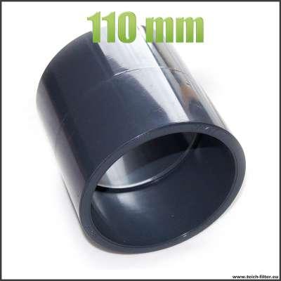 Muffe 110mm für HT, KG und PVC Rohre aus Kunststoff als Verbindung