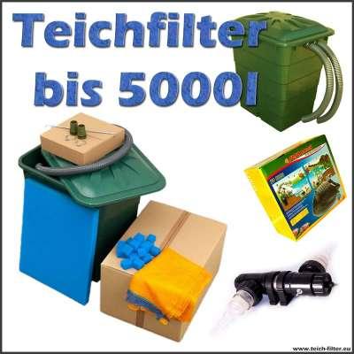 Teichfilter Set Mit Wasserspiel Und Pumpe Für Unterwasser Teichfilter Uf 3000