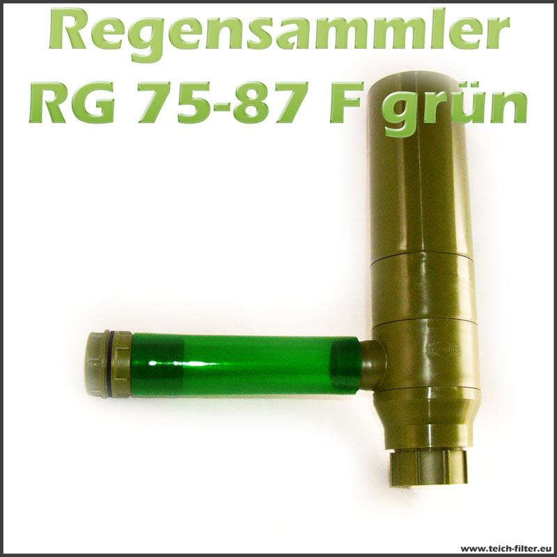 Regensammler Grun Rg 75 87 F Fur Fallrohr Und Regentonne