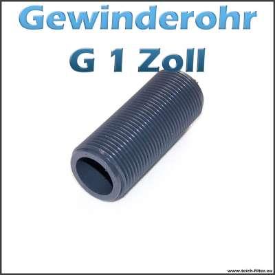 Gewinderohr als Hülse aus PVC Kunststoff mit G 1 Zoll Aussengewinde als Tankdurchführung