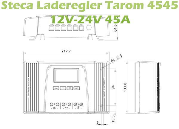 zeichnung-steca-solar-laderegler-tarom-4545-12v-24v