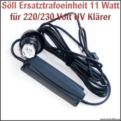 Söll Trafo Ersatzteil 20333 mit 11W und 220/230V für UV Klärer am Titan Teichfilter