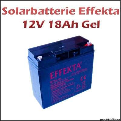 18Ah Solarbatterie 12V von Effekta mit Gel Technologie für Wohnmobil und Garten