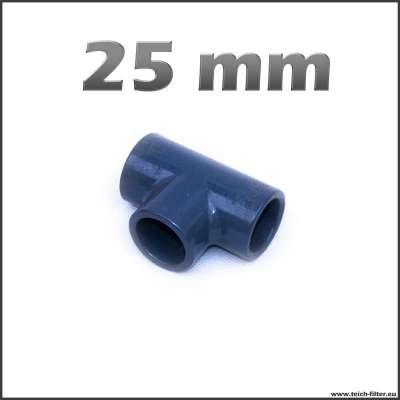 25 mm T-Stück aus PVC für Wasser