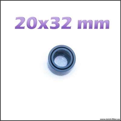 20 x 32 mm Reduzierung aus Kunststoff zum Einkleben