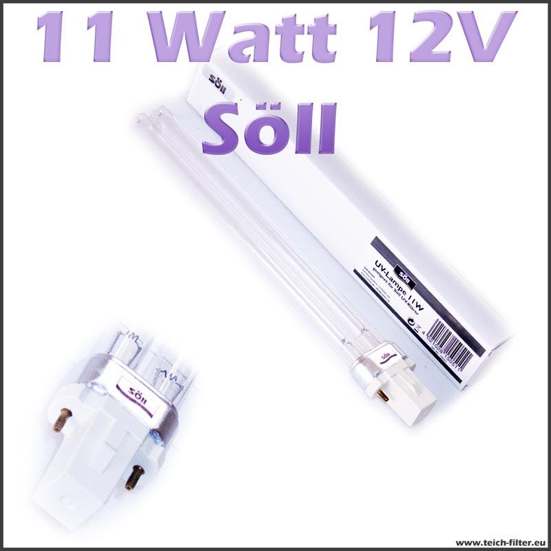 11 watt 12 volt uv lampe s ll. Black Bedroom Furniture Sets. Home Design Ideas