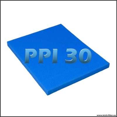 Filtermatte PPI 30 mit 75 x 60 x 5 cm für Regentonnen zum Filterbau