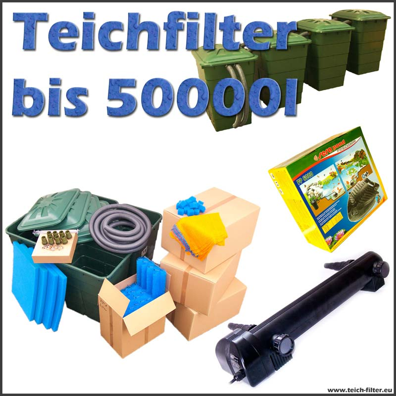 teichfilter 50000 liter eco koi mit pumpe und uvc. Black Bedroom Furniture Sets. Home Design Ideas