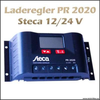 Laderegler 12V bis 24V PR 2020 für 20A von Steca an Hybrid Solar Inselanlagen