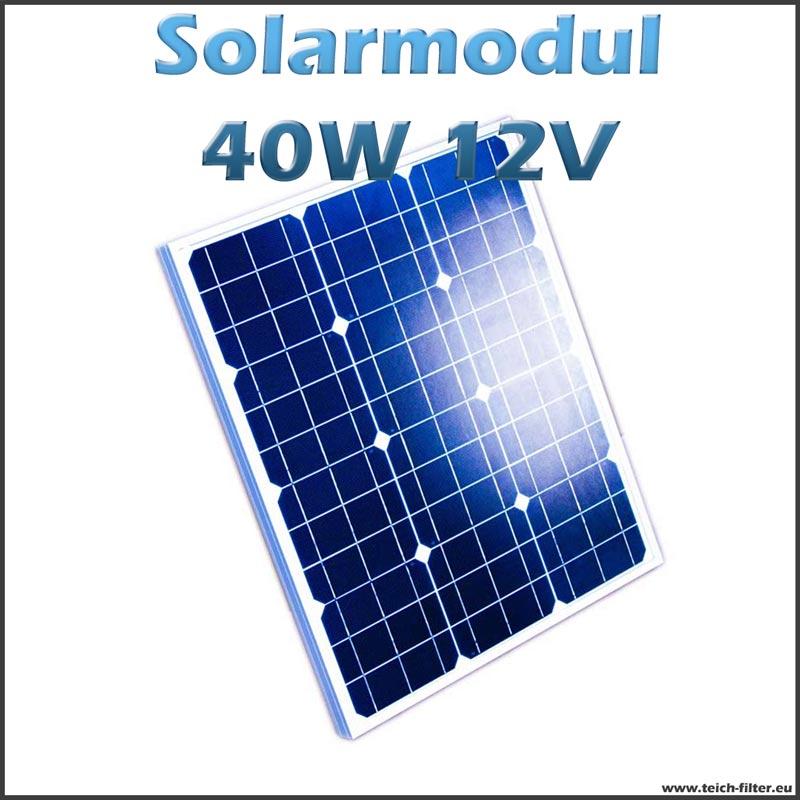 solarmodul 40w 12v monokristallin f r garten und balkon. Black Bedroom Furniture Sets. Home Design Ideas