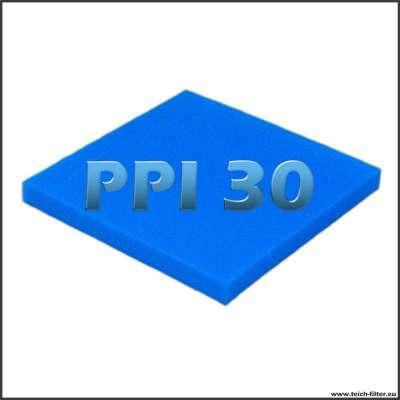 Filtermatte fein PPI 30 mit 50x50x5 cm für Teichfilter