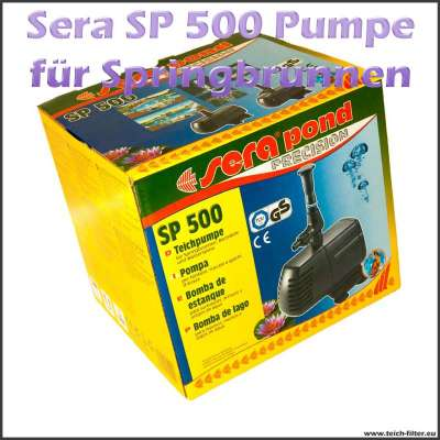 Teichpumpe SP 500 von Sera für Springbrunnen und Wasserspiele