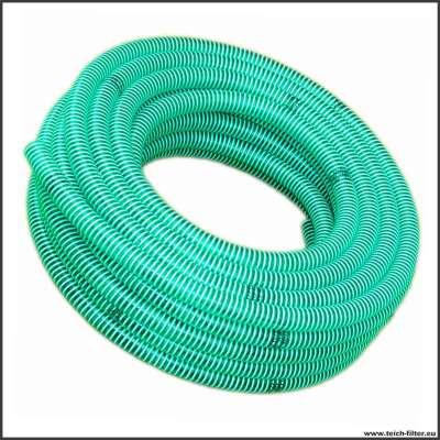 50mm Spiralschlauch grün Rehau auf 25m Rolle für grosse Teichpumpen